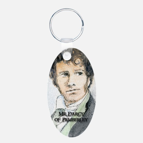 Mr Darcy Of Pemberley Aluminum Oval Keychain