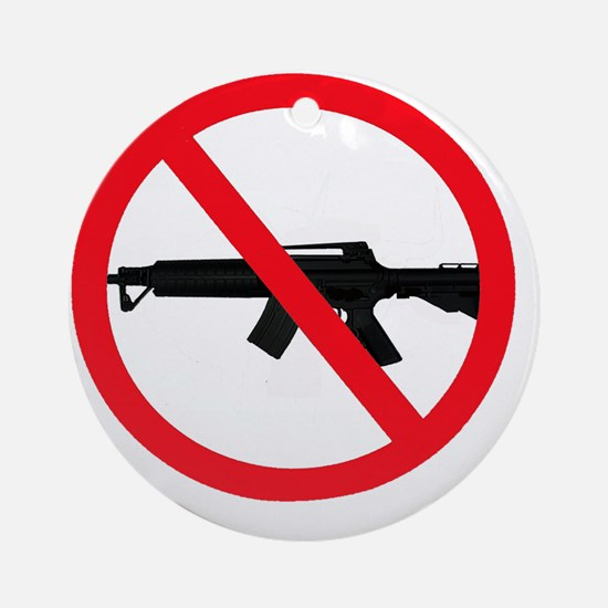 Ban Assault Weapons Round Ornament