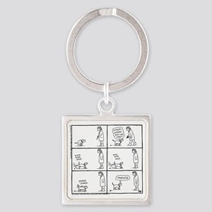 Poo Fun Square Keychain