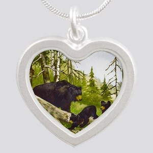 Best Seller Bear Silver Heart Necklace