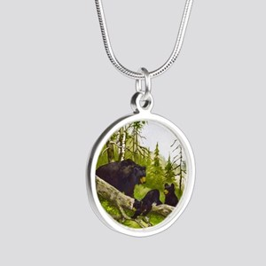 Best Seller Bear Silver Round Necklace