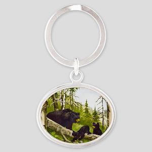 Best Seller Bear Oval Keychain