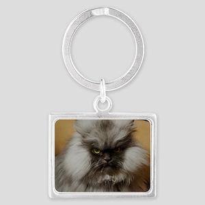 Colonel Meow scowl face Landscape Keychain
