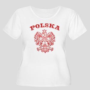 Polska Women's Plus Size Scoop Neck T-Shirt