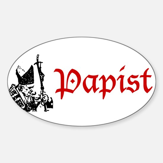 """Papist"" Rectangle Decal"