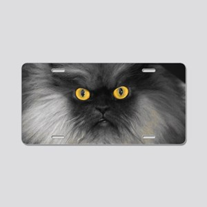 Yellow Eyes Aluminum License Plate