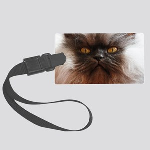Colonel Meow smells scotch and t Large Luggage Tag