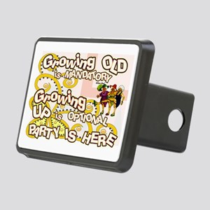 growing old women party Rectangular Hitch Cover