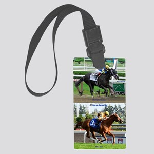 Horse Racing Notebook Large Luggage Tag