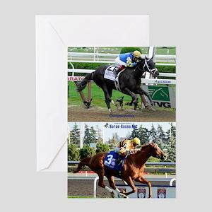 Horse Racing Notebook Greeting Card
