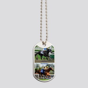 Horse Racing Notebook Dog Tags
