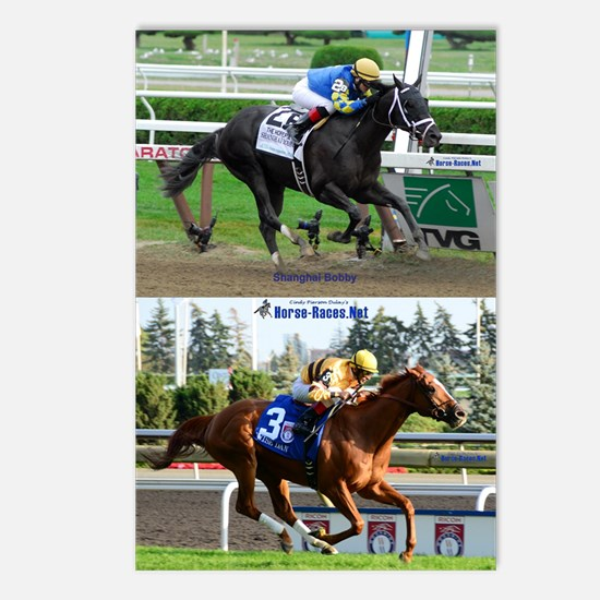 Horse Racing Notebook Postcards (Package of 8)