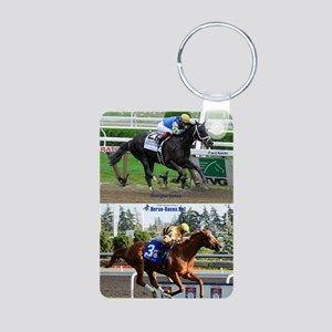 Horse Racing Notebook Aluminum Photo Keychain