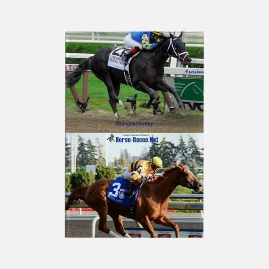 Horse Racing Notebook Rectangle Magnet