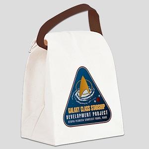 Startrek Galaxy Class Starship Pr Canvas Lunch Bag