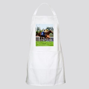 Horse Racing Clock Apron