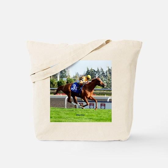 Horse Racing Clock Tote Bag