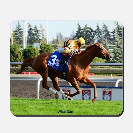 Horse Racing Clock Mousepad