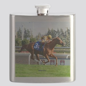 Horse Racing Clock Flask