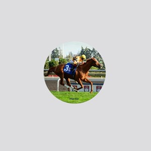 Horse Racing Clock Mini Button