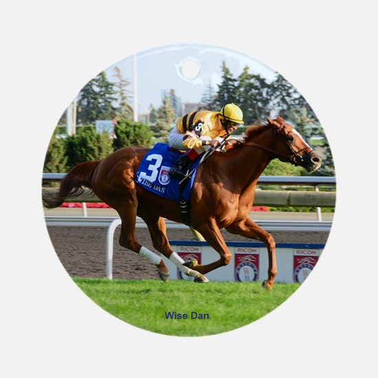 Horse Racing Clock Round Ornament