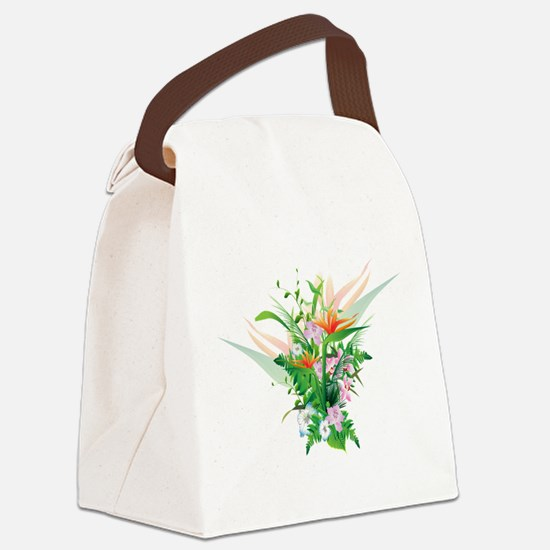 Beautiful Flowers Canvas Lunch Bag