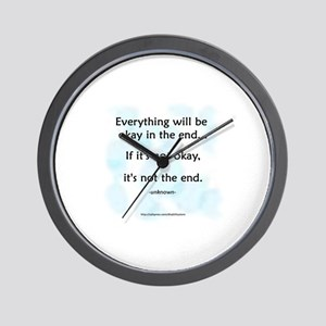 """Okay"" Wall Clock"