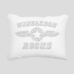 WIMBLEDON ROCKS Rectangular Canvas Pillow