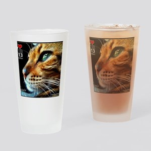 Cover Bengal Cat Close up Drinking Glass