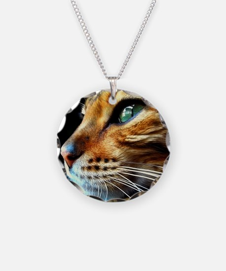 Cover Bengal Cat Close up Necklace