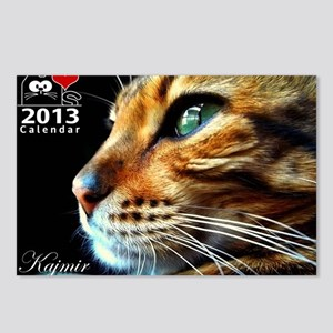 Cover Bengal Cat Close up Postcards (Package of 8)