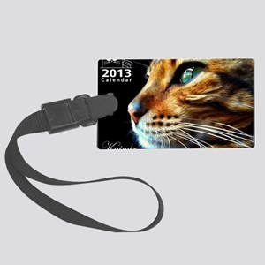 Cover Bengal Cat Close up Large Luggage Tag