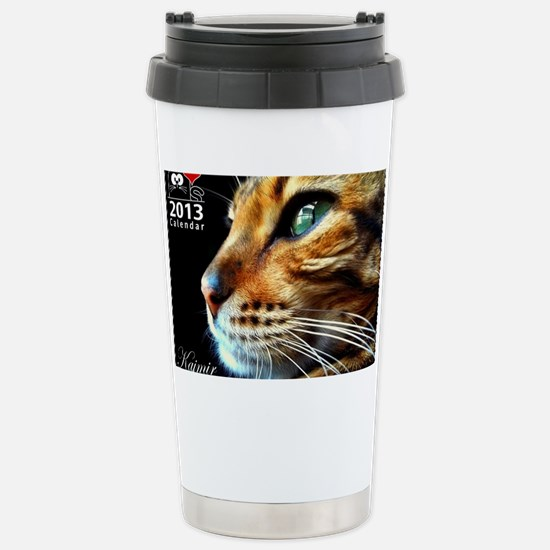 Cover Bengal Cat Close  Stainless Steel Travel Mug