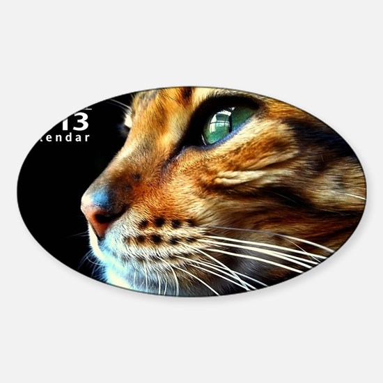Cover Bengal Cat Close up Sticker (Oval)