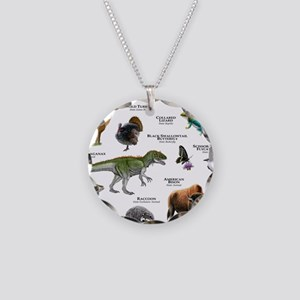 Oklahoma State Animals Necklace Circle Charm