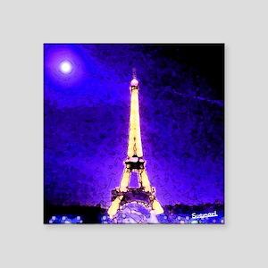 "Eiffel Tower Square Sticker 3"" x 3"""