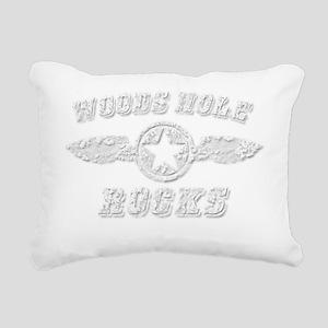 WOODS HOLE ROCKS Rectangular Canvas Pillow