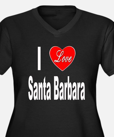 I Love Santa Barbara (Front) Women's Plus Size V-N