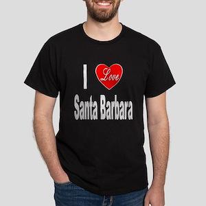 I Love Santa Barbara (Front) Dark T-Shirt