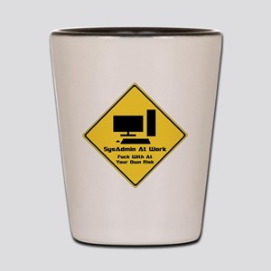 SysAdmin Zone Shot Glass