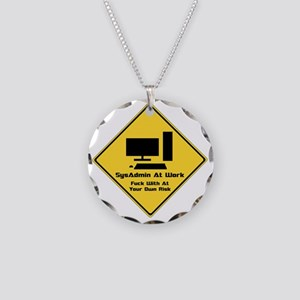 SysAdmin Zone Necklace Circle Charm