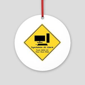SysAdmin Zone Round Ornament