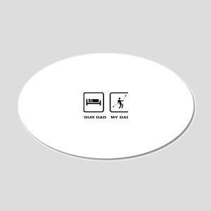 Yoyo-Player-ABL1 20x12 Oval Wall Decal