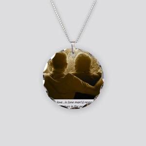 Gay Love Necklace Circle Charm