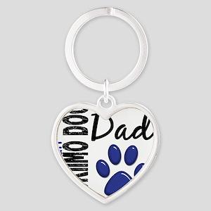 D American Eskimo Dog Dad 2 Heart Keychain