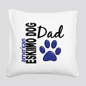 D American Eskimo Dog Dad 2 Square Canvas Pillow