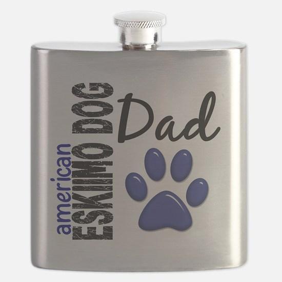 D American Eskimo Dog Dad 2 Flask