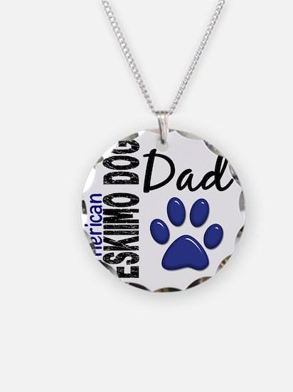 D American Eskimo Dog Dad 2 Necklace