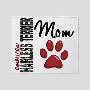 D American Hairless Terrier Mom 2 Throw Blanket