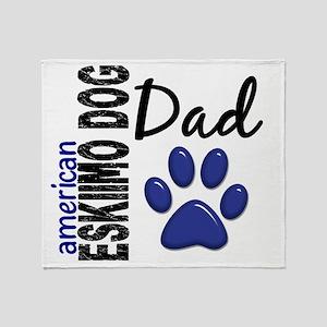 D American Eskimo Dog Dad 2 Throw Blanket